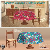 *PC* Pastoral Kitchen Table & Chairs