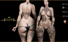 Saloma Tattoo - Black colour, Maitreya, Legacy, INTHIUM KUPRA, Belleza, Signature, Omega, BOM - Vezzo Ink