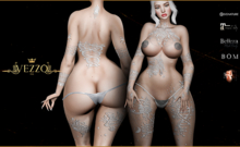 Saloma Tattoo - White, single color, Maitreya, Legacy, INTHIUM KUPRA, Belleza, Signature, Omega, BOM - Vezzo Ink