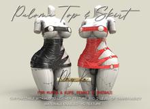 -[ Phy.Ka ]- 017 - Paloma top + Skirt - Leather