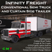Infinity Freight Conventional Semi Trailer Truck v1.16