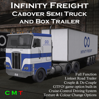 Infinity Freight Cabover Semi Trailer Truck v1.16