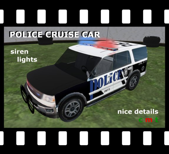 Police Cruise Car (boxed) Cruiser 4x4 with siren & lights