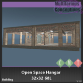 [MC] Open Space Hangar 32x32 68LI (wear to unpack)