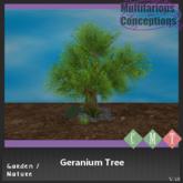[MC] Geranium Tree (wear to unpack)