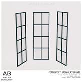 Atelier Burgundy . Ferrum Iron Glass Panel *ADD*