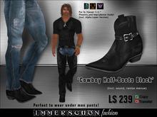 Immerschoen Man - Cowboy Half - Boots (Black)
