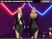 [S] Colbie Asymmetric Dress Black