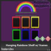 [MC] Hanging Rainbow Shelf w/ Frames (wear to unpack)