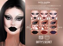 Dotty's Secret - Goth Queen - Makeup Set [LELUTKA EVO X]
