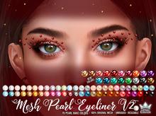 Mesh Pearls Eyeliner V2 - White Queen