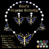Ashira's - Dani's Crystal Butterfly Necklace