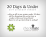 checkMATE - 30 Days & Under Gift Script (BOXED)