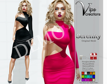 [Vips Creations] - DEMO - Original Mesh Dress-[Serenity]FITTED
