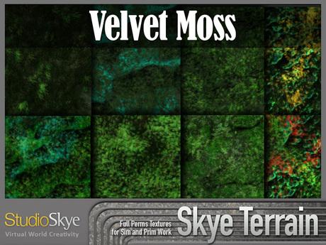 Skye Terrain Textures - Velvet Moss - 90 Full Perms Textures