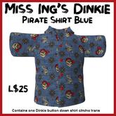Miss Ing's DInkie Pirate Shirt Blue