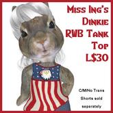 Miss Ing's Dinkie Tank Top RWB