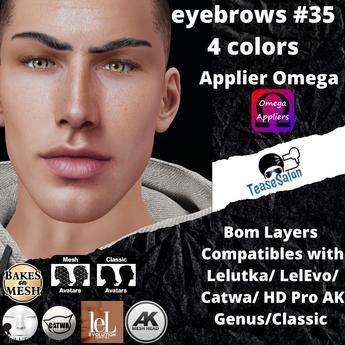 #TS#  Eyebrows #35 4 colors BOM - Lel Evo/Catwa HD Pro/ Classic