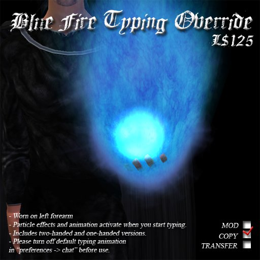 Blue Fire Typing Override