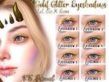 XS Primal EvoX Gold Glitter Eyeshadows & Eyeliners