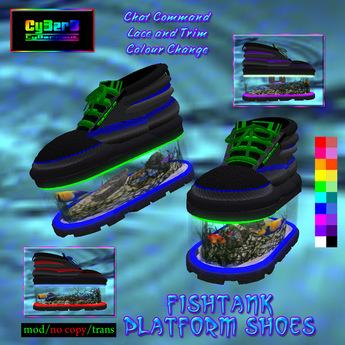 Fishtank Platform Shoes (CC Black