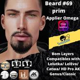 #TS# Beard #69 prim  BOM - Lel Evo/Catwa HD Pro/AK/ Classic