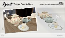 Kyoot Home - Teapot Candle Set 3