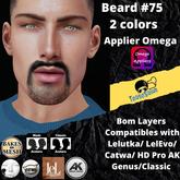 #TS# Beard #75 2 colors BOM - Lel Evo/Catwa HD Pro/AK/ Classic