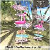 Dollarbie L$1 !! Follow US !! ALOHA beach board 2 sizes GIFT BOX