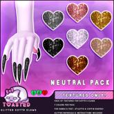 TOASTED // Glitter Kottr Klaws - NEUTRAL Pack