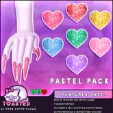 TOASTED // Glitter Kottr Klaws - PASTEL Pack