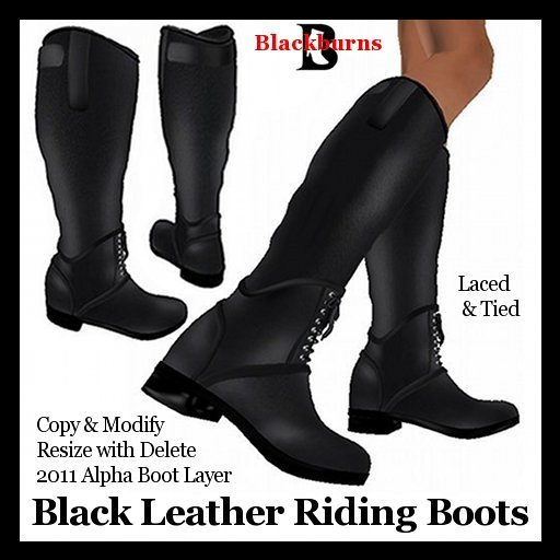 Riding Boots ~ Black Leather