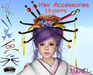 [ FULL PERM ] Hair Accessories Japan Kanzashi KIT