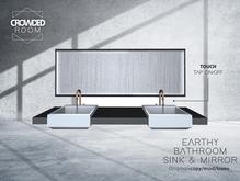 Crowded Room - Earthy Bathroom Sink & Mirror