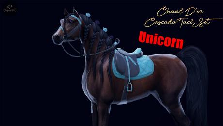 Cheval D'or / TeeglePet Unicorn / Cascada Tack Set. (Unpackd)