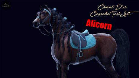 Cheval D'or / TeeglePet Alicorn / Cascada Tack Set. [HUD]