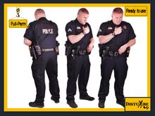 ::DisturbeD:: Morris Policeman Talking on Radio Character - FULL PERM MESH