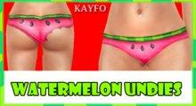 [KAYFO] Watermelon Undies