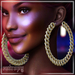 ENTROPY - ICEE CURB EARRINGS GOLD