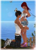 New! Pregnancy Pose! COUPLE POSE **Purple Poses** PURPLEPoseBall40