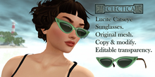 Eclectica Lucite Catseye Sunglasses in green