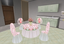 Dining Set Roses (sit anims)