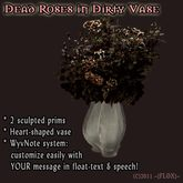 Dead Roses in Dirty Heart Vase [BoxMcT]