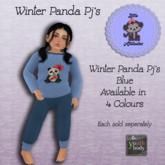 * L.A * Winter Panda Pj's  Blue Youth (Add Me)