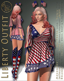99L$ PROMO***ArisArisB&W~Liberty Outfit~INDEPENDENCE DAY PROMOTION