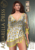 99L$ Limited promotion***ArisArisB&W~Aquarelle Dress-
