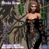 Brillancia - Dress Rose black
