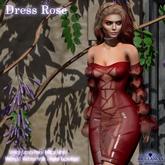 Brillancia - Dress Rose maroon