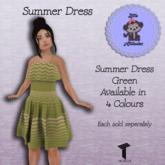 * L.A * Summer Dress Green Tweenster