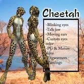 Sculpted Furry Cheetah - natural orange